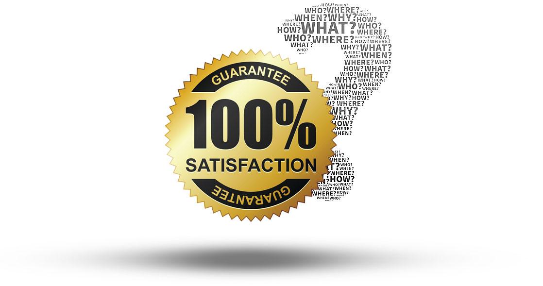 برچسب رضایت 100 درصدی از گارانتی شرکت امیران استیل عکس استفاده شده در سایت فروشگاه اینترنتی لوازم خانگی امیر استیل