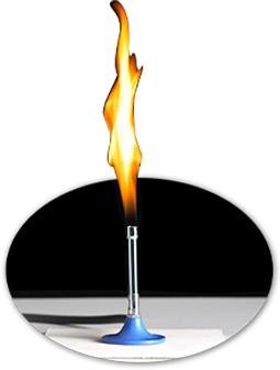 تصویر چراغ بونزن با رنگ زمینه مشکی عکس استفاده شده در سایت فروشگاه لوازم خانگی myernest.com