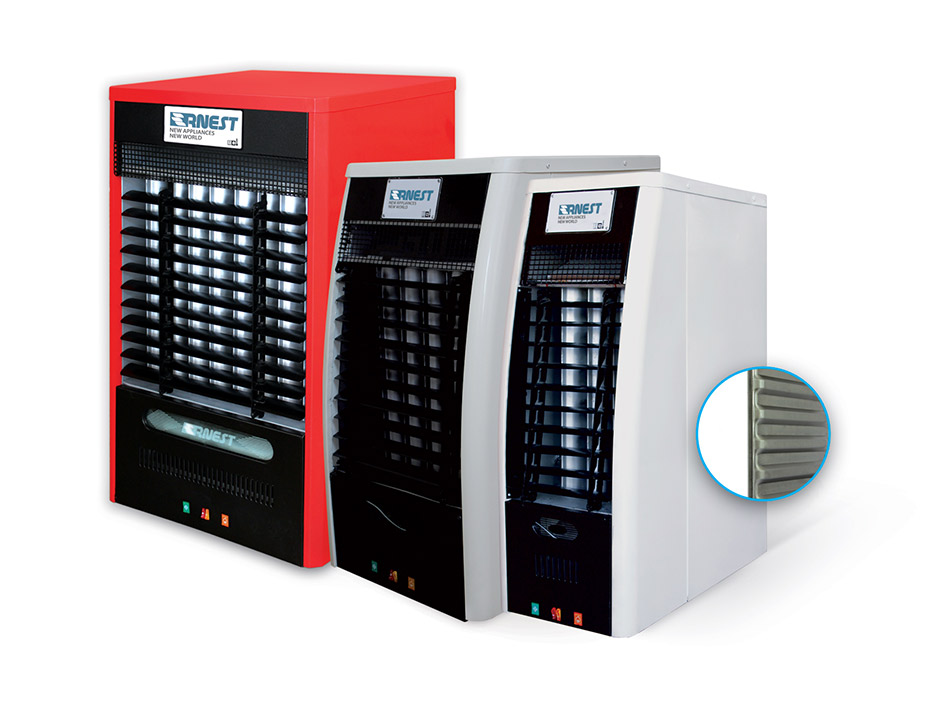 تمامی مدل های هیتر گازی برند ارنست در کنار هم رنگ سفید و قرمز عکس استفاده شده در سایت فروشگاه لوازم خانگی