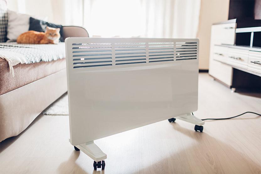 هیتر برقی شکل شوفاژ در محیط خانه عکس استفاده شده در سایت فروشگاه لوازم خانگی myernest.com