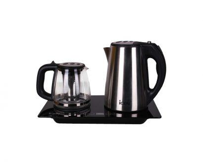 چای ساز روهمی آیسن مدل IE-T564 برند آیسن نمای روبرو محصول دسته کالای لوازم پخت و پز - چای ساز عکس استفاده شده در سایت فروشگاه اینترنتی لوازم خانگی مای ارنست myernest.com
