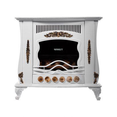 بخاری گازی ارنست طرح شومینه مدل یزدان 280 رنگ سفید برند ارنست نمای روبرو دسته تهویه مطبوع - بخاری گازی عکس استفاده شده در سایت فروشگاه اینترنتی لوازم خانگی مای ارنست