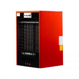 هیتر گازی 45000 ارنست مدل پاپیون مجهز به ترموستات محیطی تکبان رنگ قرمز برند ارنست نمای پرسپکتیو دسته تهویه مطبوع - هیتر عکس استفاده شده در سایت فروشگاه اینترنتی لوازم خانگی مای ارنست