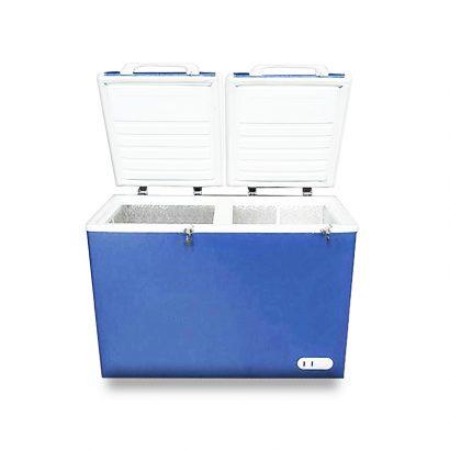 فریزر صندوقی اورست 260 لیتری مدل دو درب رنگ آبی انواع یخچال فریزر عکس استفاده شده در سایت فروشگاه اینترنتی لوازم خانگی مای ارنست myernest.com