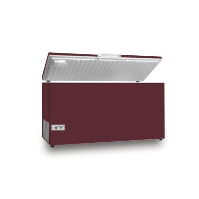 فریزر صندوقی اورست 320 لیتری مدل تک درب رنگ زرشکی برند اورست نمای پرسپکتیو محصول دسته لوازم بزرگ آشپزخانه - یخچال فریزر عکس استفاده شده در سایت فروشگاه اینترنتی لوازم خانگی مای ارنست myernest.com
