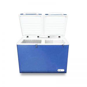 فریزر صندوقی اورست 320 لیتری مدل دو درب رنگ آبی برند اورست نمای پرسپکتیو محصول دسته لوازم بزرگ آشپزخانه - یخچال فریزر عکس استفاده شده در سایت فروشگاه اینترنتی لوازم خانگی مای ارنست myernest.com